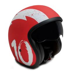 Casco Moto Jet Sunra Rojo...